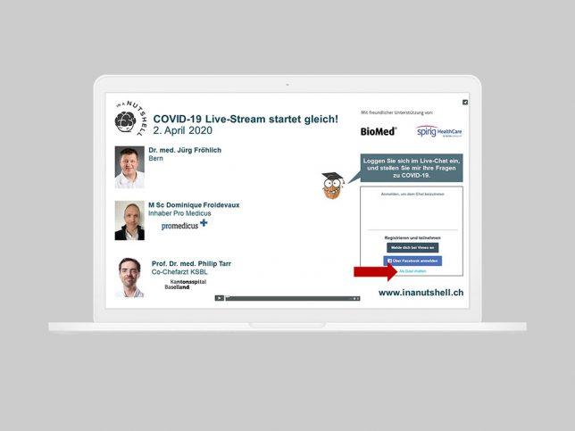 COVID-19 Live-Stream vom 2.4.2020, FAQs