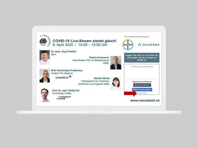 COVID-19 Live-Stream vom 9.4.2020, Infektionsprävention und Hygiene